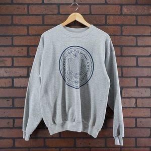 HANES UC Berkeley Cal Sweatshirt Size Medium Gray